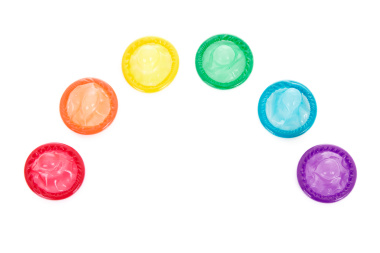 Rainbow of Condoms