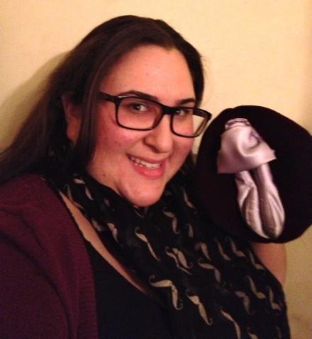 Sexologist Vixenne with her Wonderous Vulva Puppet